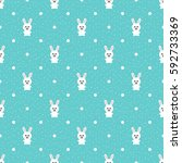 seamless pattern with cute... | Shutterstock .eps vector #592733369
