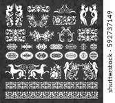 decorative calligraphic...   Shutterstock .eps vector #592737149