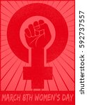 march 8th women's day... | Shutterstock .eps vector #592737557