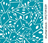 seamless crazy dice pattern. | Shutterstock .eps vector #592739339