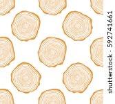 tree rings seamless vector... | Shutterstock .eps vector #592741661