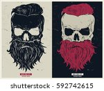 vintage biker graphics and... | Shutterstock .eps vector #592742615