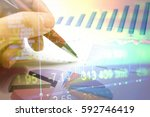 various type of financial and...   Shutterstock . vector #592746419