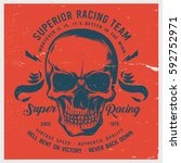 vintage biker graphics and... | Shutterstock .eps vector #592752971