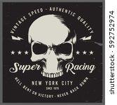 vintage biker graphics and... | Shutterstock .eps vector #592752974