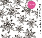 vector seamless pattern with... | Shutterstock .eps vector #592754051