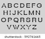 alphabet  | Shutterstock .eps vector #592761665