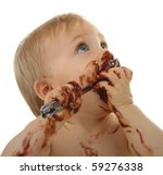 Baby Food  Baby Eating Chocolate