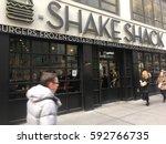 1 february 2017   new york city ... | Shutterstock . vector #592766735