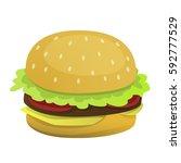 cartoon burger vector isolated. ...