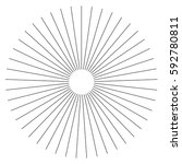 radial lines abstract geometric ... | Shutterstock .eps vector #592780811