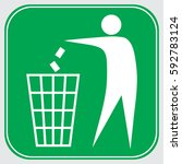 no littering   throwing in the... | Shutterstock .eps vector #592783124