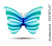 vector butterfly with blending... | Shutterstock .eps vector #592787147