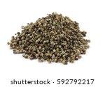 dry vitex fruits  vitex agnus...   Shutterstock . vector #592792217