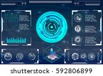 elements for hud interface | Shutterstock .eps vector #592806899