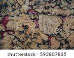 cork texture    Shutterstock . vector #592807835