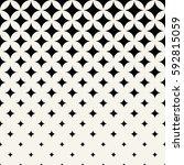 geometric halftone stars... | Shutterstock .eps vector #592815059