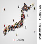 large group of people in japan... | Shutterstock .eps vector #592819139