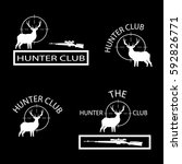 various logos to hunting clubs | Shutterstock .eps vector #592826771
