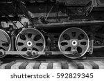old locomotive wheels | Shutterstock . vector #592829345