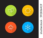 vector season icons | Shutterstock .eps vector #592836419
