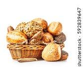Basket Of Various Bread Rolls...