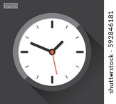 clock icon in flat style  timer ... | Shutterstock .eps vector #592846181