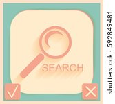 magnifier search | Shutterstock .eps vector #592849481