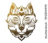 vector hand drawn  illustration ...   Shutterstock .eps vector #592854995
