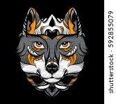 vector hand drawn  illustration ...   Shutterstock .eps vector #592855079