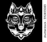 vector hand drawn  illustration ...   Shutterstock .eps vector #592855085