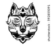 vector hand drawn  illustration ...   Shutterstock .eps vector #592855091
