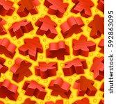 vector board games background...   Shutterstock .eps vector #592863095
