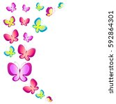 Color  Butterflies  Watercolor...