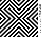 vector seamless pattern.... | Shutterstock .eps vector #592866287