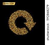 icon circular arrows of gold... | Shutterstock .eps vector #592868279