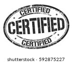 certified grunge rubber stamp... | Shutterstock .eps vector #592875227