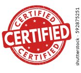 certified grunge rubber stamp... | Shutterstock .eps vector #592875251