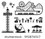 Amusement Park Pictogram Set....