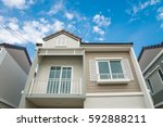 new house for sale | Shutterstock . vector #592888211