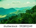 mountain view at chiangrai...   Shutterstock . vector #592892249