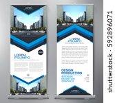 business roll up. standee... | Shutterstock .eps vector #592896071