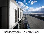 a series of gradually receding...   Shutterstock . vector #592896521