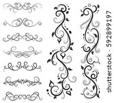 vector illustration set of... | Shutterstock .eps vector #592899197