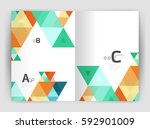 modern business brochure or... | Shutterstock .eps vector #592901009
