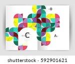 modern business brochure or... | Shutterstock .eps vector #592901621