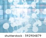 blue science molecule chemical... | Shutterstock . vector #592904879