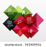 square abstract background.... | Shutterstock .eps vector #592909931
