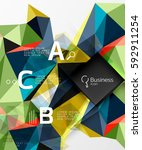 polygonal triangle abstract... | Shutterstock .eps vector #592911254