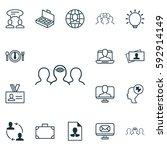 set of 16 business management... | Shutterstock .eps vector #592914149